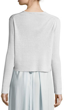 Eileen Fisher Fine Crepe-Knit Cropped Cardigan