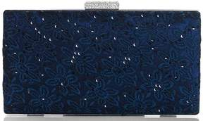 *Quiz Navy Lace Sequin Clutch Bag