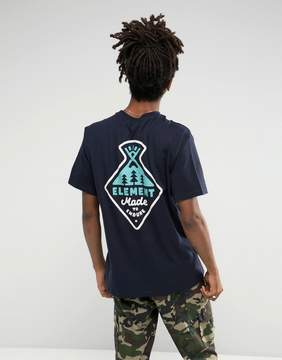 Element Vertex Back Print T-Shirt in Navy