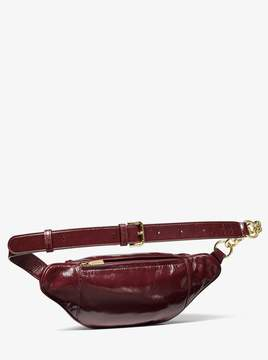 MICHAEL Michael Kors Medium Crinkled Calf Leather Belt Bag