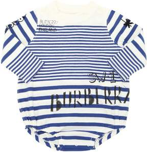 Burberry Striped Cotton Jersey Bodysuit