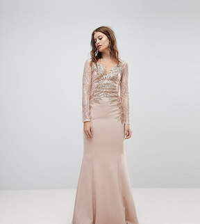 Lipsy Embroided Lace Sleeve Maxi