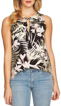 CeCe Soft Palms Tie Front Sleeveless Blouse