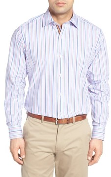 Tailorbyrd Men's Big & Tall Holly Stripe Sport Shirt