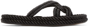 Isabel Marant Black Popeye Rope Sandals