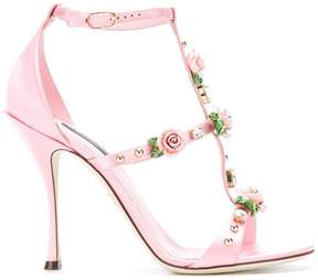 Dolce & Gabbana rose caged heel sandals