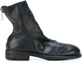 Guidi stacked heel ankle boots