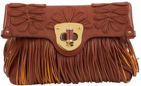 Alexander McQueen Brown Leather Clutch Bag