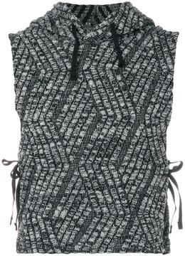 Engineered Garments sleeveless hooded sweater