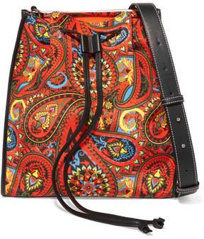 J.W.Anderson Leather-trimmed Printed Canvas Shoulder Bag - Orange