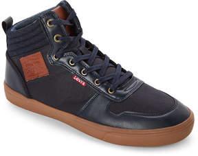 Levi's Navy Wilshire Gum-Sole Mid Sneakers