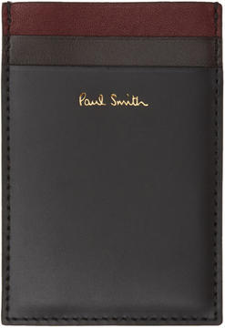 Paul Smith Black Color Band North and South Card Holder