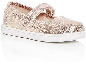 Toms Girls' Crackle Foil Mary Jane Flats - Baby, Walker, Toddler
