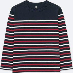 Uniqlo Kid's Striped Crewneck Long-sleeve T-Shirt