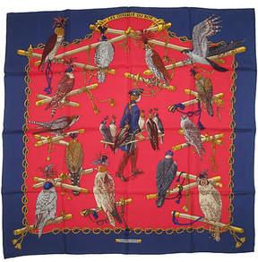 One Kings Lane Vintage HermAs Les Oiseaux du Roy Scarf - The Emporium Ltd.