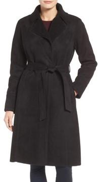Eliza J Women's Faux Shearling Wrap Trench Coat
