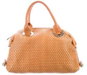 Zac Posen Z Spoke by Leather Woven Handle Bag