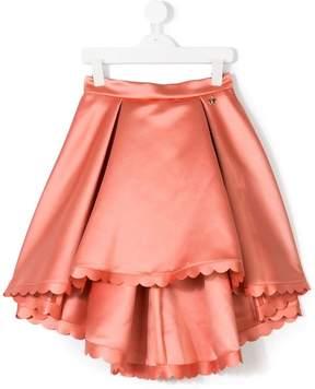 Elisabetta Franchi La Mia Bambina scalloped trim skirt