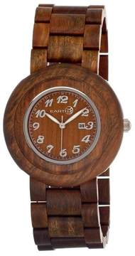 Earth Cambium Olive Dial Olive Wood Bracelet Unisex Watch