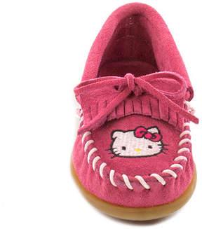 Minnetonka Girls' Hello Kitty Kilty Suede Moccasin