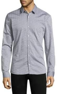HUGO Triangle Cotton Button-Down Shirt