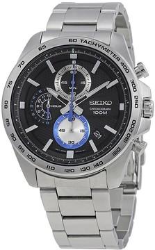 Seiko Black Dial Men's Chronograph Watch