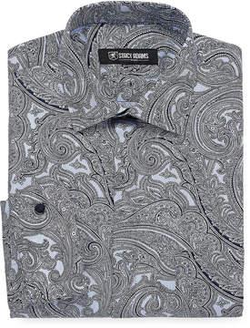 Stacy Adams Long Sleeve Woven Paisley Dress Shirt