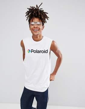 Asos Polaroid Sleeveless T-Shirt With Dropped Armhole
