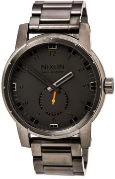 Nixon A937632 Men's Patriot Gunmetal Dial Gunmetal IP Steel Bracelet Dive Watch