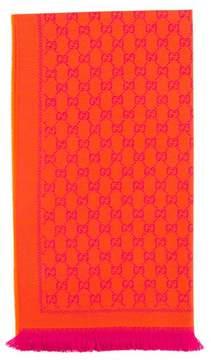 Gucci Orange Wool GG Jacquard Scarf - ORANGE - STYLE