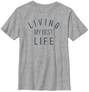 Fifth Sun Athletic Heather 'Living My Best Life' Crewneck Tee - Youth