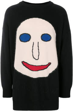 Christopher Kane Face intarsia jumper