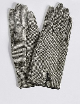 Marks and Spencer Wool Rich Button Loop Gloves