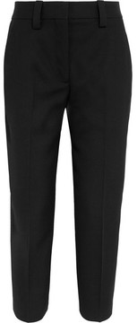 Acne Studios Cropped Wool-twill Straight-leg Pants - Black