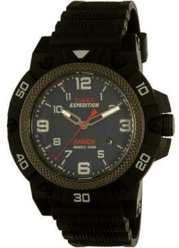 Timex TW4B01100 Expedition Men's Black Rubber Bracelet With Blue Analog Dial