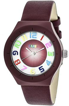 Crayo Atomic Collection CRACR3503 Unisex Watch with Leather Strap