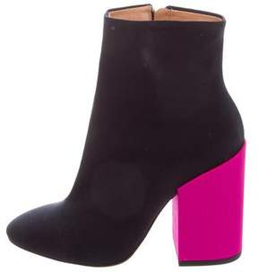 Dries Van Noten Colorblock Ankle Boots