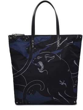 Valentino Panther Printed Shopper