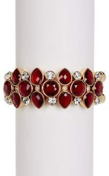 Carolee Cluster Beaded Stretch Bracelet