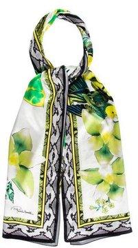 Roberto Cavalli Printed Silk Scarf w/ Tags