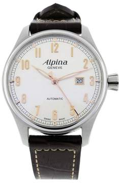 Alpina Startimer AL-525SCR4S6 Stainless Steel & Leather Automatic 44mm Mens Watch