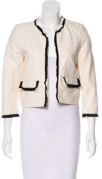 Band Of Outsiders Lace Trimmed Collarless Jacket