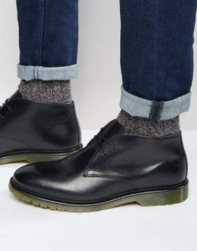 Red Tape Desert Boots Black Leather