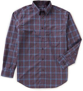 Roundtree & Yorke Superior Touch Big & Tall Long-Sleeve Windowpane Sportshirt