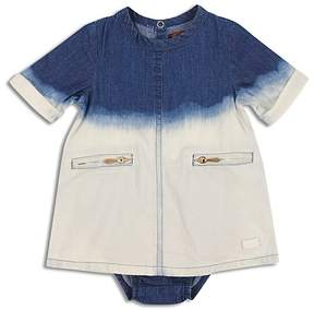 7 For All Mankind Girls' Bleached Denim Dress & Bloomers Set - Baby