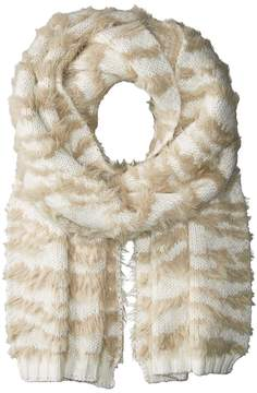 BCBGMAXAZRIA Textured Animal Knit Muffler Scarves