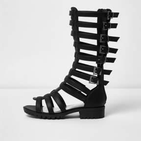 River Island Girls black knee high gladiator sandals