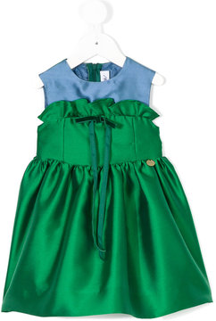 Simonetta dress with frill and bow tie detail