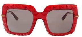 Dolce & Gabbana Dg6111 31477n Transparent Bordeaux Square Sunglasses.