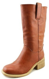 DOLCE by Mojo Moxy Bounty Women Square Toe Leather Mid Calf Boot.
